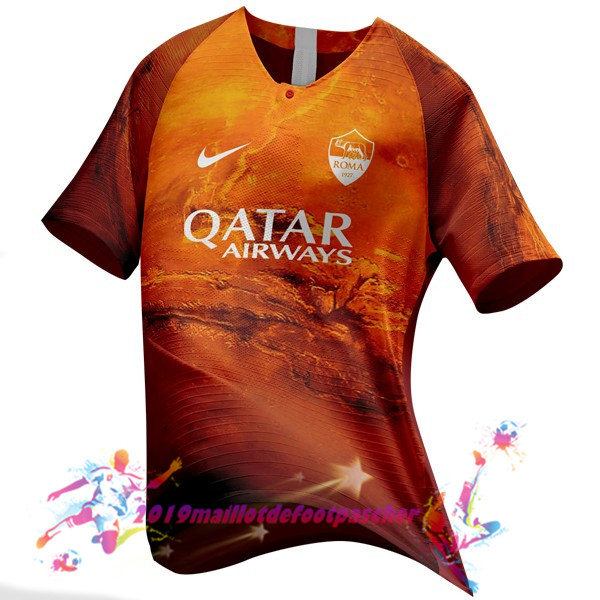 Maillots De Foot Pas Cher Nike EA Sport Maillots As Roma 2018-2019 Orange