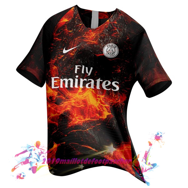 Maillots De Foot Pas Cher Nike EA Sport Maillots Paris Saint Germain 2018-2019 Orange
