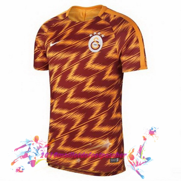 Maillots De Foot Pas Cher Nike Pre Match Galatasaray SK 2018-2019 Orange