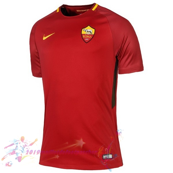 Maillot De Foot Pas Cher Nike Domicile Maillots As Roma 2017 2018 Rouge