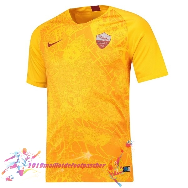 Maillot De Foot Pas Cher Nike Third Maillots As Roma 2018-2019 Jaune