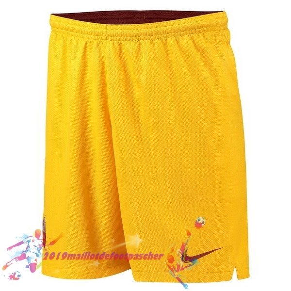 Maillot De Foot Pas Cher Nike Third Shorts As Roma 18-19 Jaune