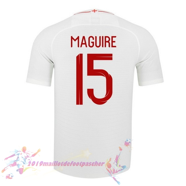 Maillot De Foot Pas Cher Nike NO.15 Maguire Domicile Maillots Angleterre 2018 Blanc