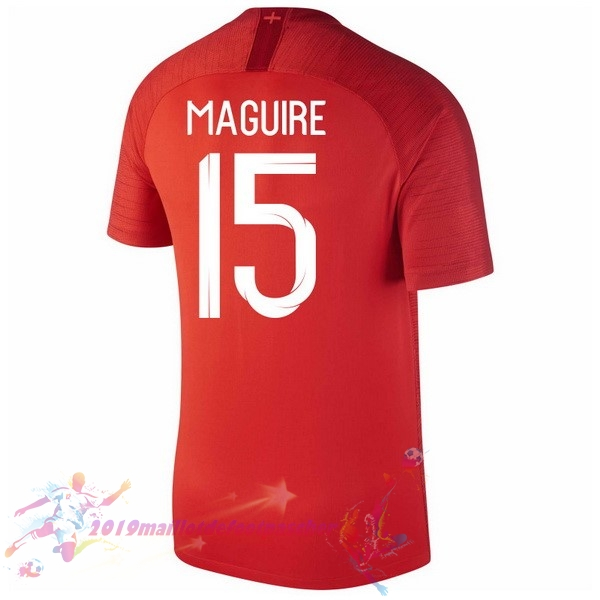 Maillot De Foot Pas Cher Nike NO.15 Maguire Exterieur Maillots Angleterre 2018 Rouge