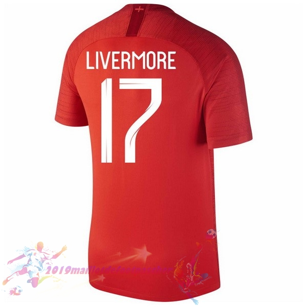 Maillot De Foot Pas Cher Nike NO.17 Livermore Exterieur Maillots Angleterre 2018 Rouge