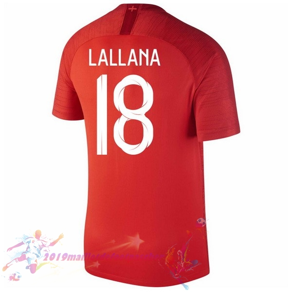 Maillot De Foot Pas Cher Nike NO.18 Lallana Exterieur Maillots Angleterre 2018 Rouge