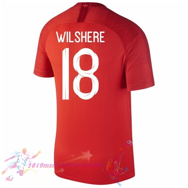 Maillot De Foot Pas Cher Nike NO.18 Wilshere Exterieur Maillots Angleterre 2018 Rouge