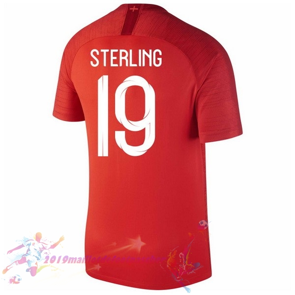 Maillot De Foot Pas Cher Nike NO.19 Sterling Exterieur Maillots Angleterre 2018 Rouge