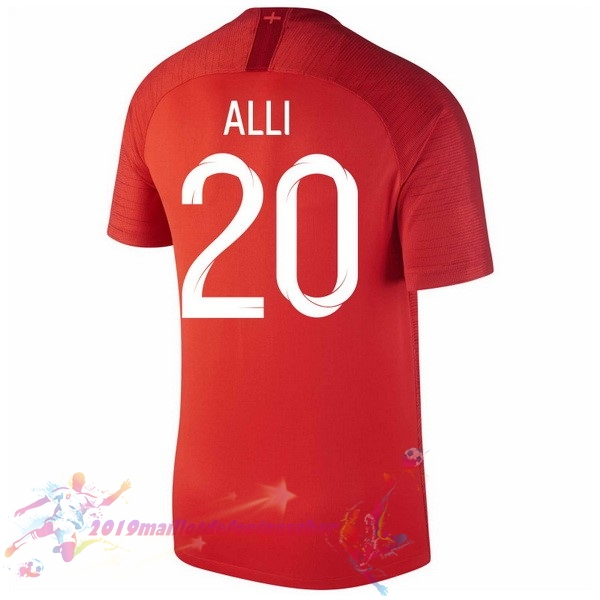 Maillot De Foot Pas Cher Nike NO.20 Alli Exterieur Maillots Angleterre 2018 Rouge