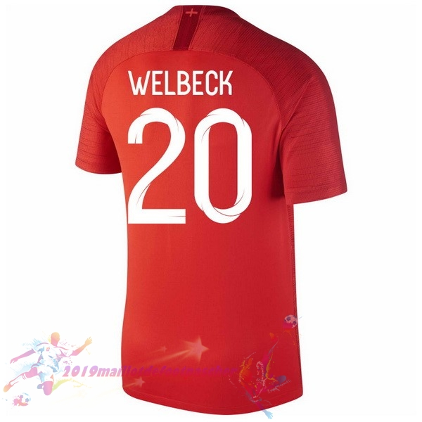 Maillot De Foot Pas Cher Nike NO.20 Welbeck Exterieur Maillots Angleterre 2018 Rouge