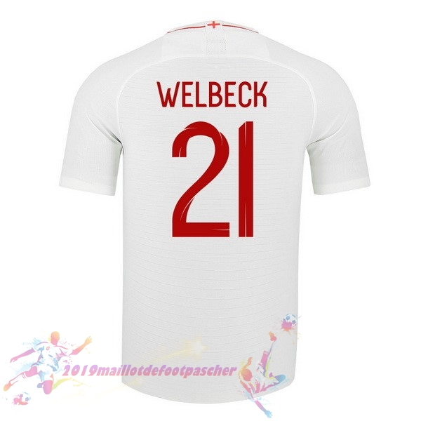 Maillot De Foot Pas Cher Nike NO.21 Welbeck Domicile Maillots Angleterre 2018 Blanc