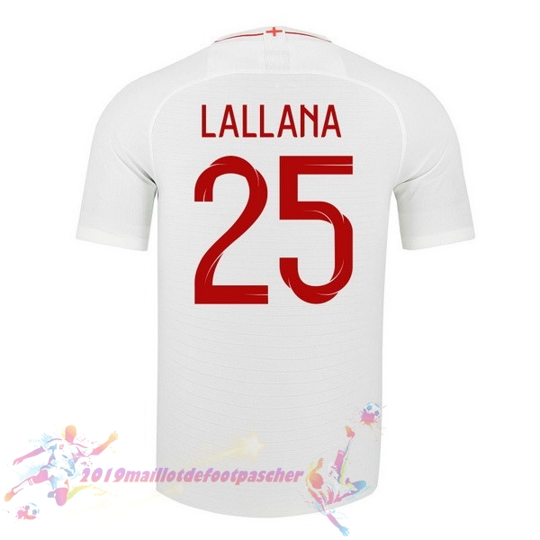 Maillot De Foot Pas Cher Nike NO.25 Lallana Domicile Maillots Angleterre 2018 Blanc