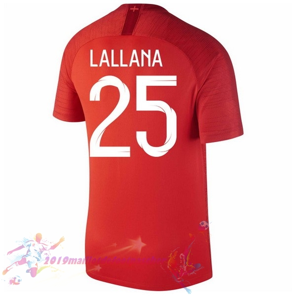 Maillot De Foot Pas Cher Nike NO.25 Lallana Exterieur Maillots Angleterre 2018 Rouge