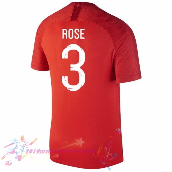 Maillot De Foot Pas Cher Nike NO.3 Rose Exterieur Maillots Angleterre 2018 Rouge