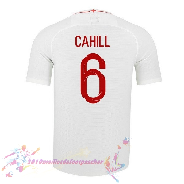 Maillot De Foot Pas Cher Nike NO.6 Cahill Domicile Maillots Angleterre 2018 Blanc