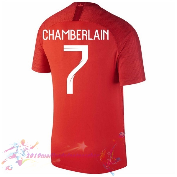 Maillot De Foot Pas Cher Nike NO.7 Chamberlain Exterieur Maillots Angleterre 2018 Rouge