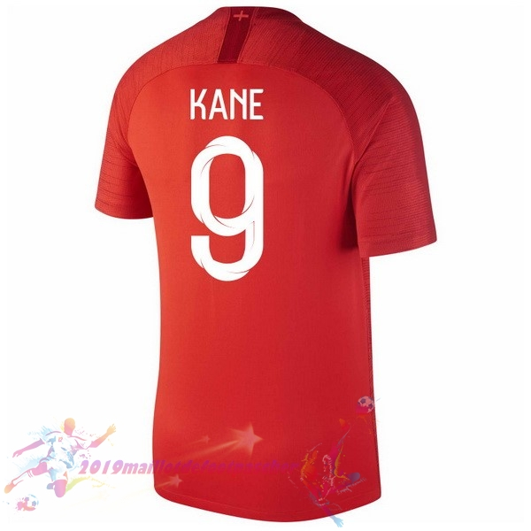 Maillot De Foot Pas Cher Nike NO.9 Kane Exterieur Maillots Angleterre 2018 Rouge