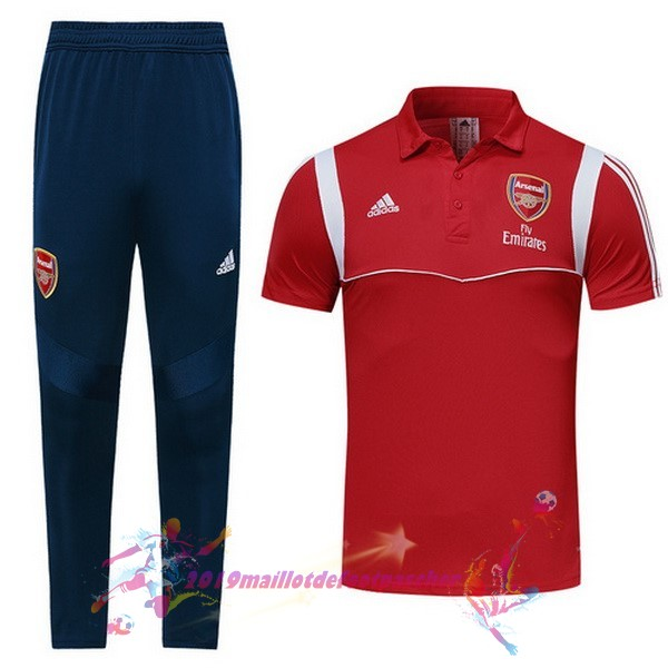 Maillot De Foot Pas Cher adidas Ensemble Polo Arsenal 2019 2020 Rouge