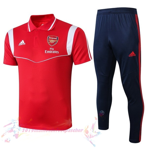 Maillot De Foot Pas Cher adidas Ensemble Polo Arsenal 2019 2020 Rouge Blanc