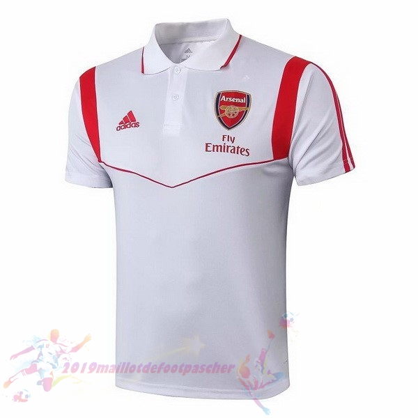 Maillot De Foot Pas Cher adidas Polo Arsenal 2019 2020 Blanc Rouge