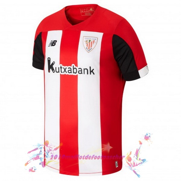 Maillot De Foot Pas Cher New Balance Domicile Maillot Athletic Bilbao 2019 2020 Rouge Blanc