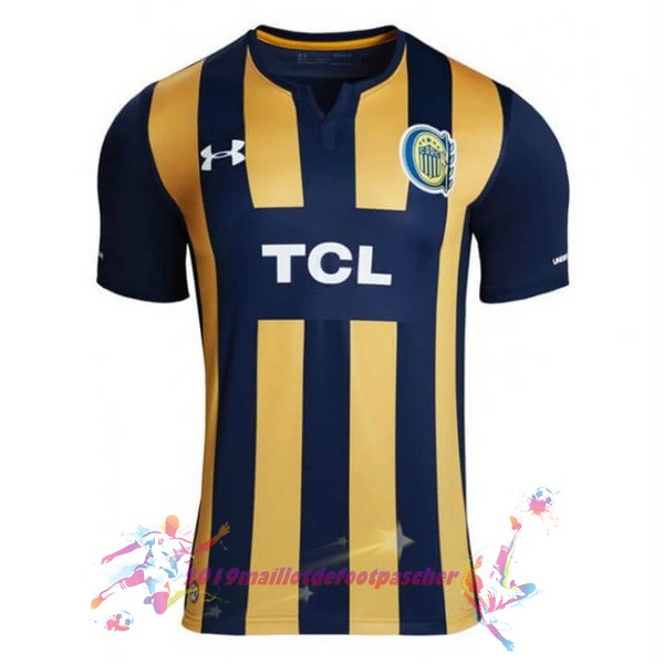 Maillot De Foot Pas Cher Under Armour Domicile Maillot CA Roserio Central 2019 2020 Bleu Jaune