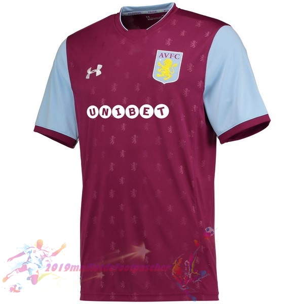 Maillot De Foot Pas Cher Under Armour Domicile Maillots Aston Villa 2017 2018 Rouge