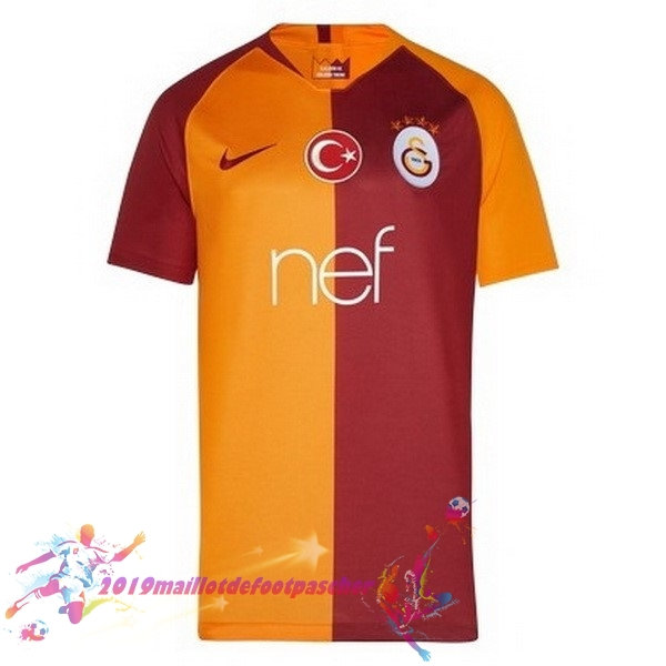 Maillot De Foot Pas Cher Nike Domicile Maillots Galatasaray SK 2018-2019 Orange