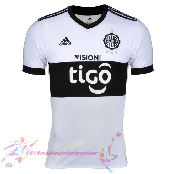Maillot De Foot Pas Cher adidas Domicile Maillots Club Olimpia 2017 2018 Blanc