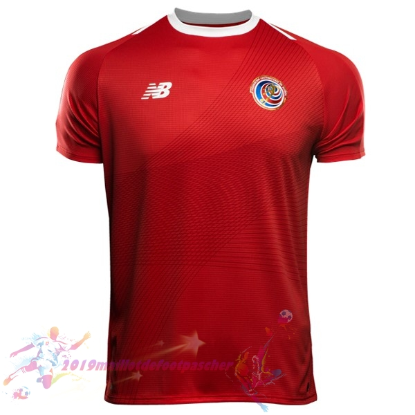 Maillot De Foot Pas Cher New Balance Domicile Maillots Costa Rica 2018 Rouge