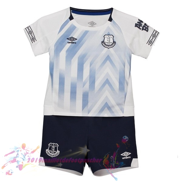 Maillot De Foot Pas Cher umbro Third Ensemble Enfant Everton 2018-2019 Blanc