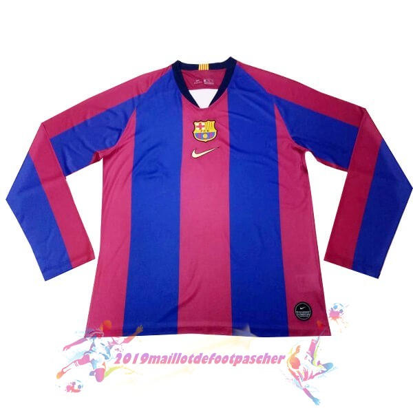 Maillot De Foot Pas Cher Nike Maillot Manches Longues Barcelona 120th Bleu Rouge