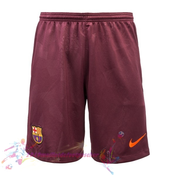 Maillot De Foot Pas Cher Nike Third Shorts Barcelona 2017 2018 Rouge