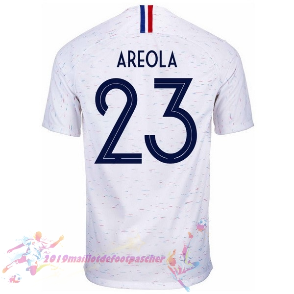 Maillot De Foot Pas Cher Nike NO.23 Areola Exterieur Maillots France 2018 Blanc