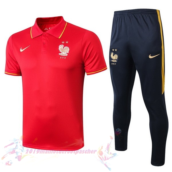 Maillot De Foot Pas Cher Nike Ensemble Polo France 2019 Rouge