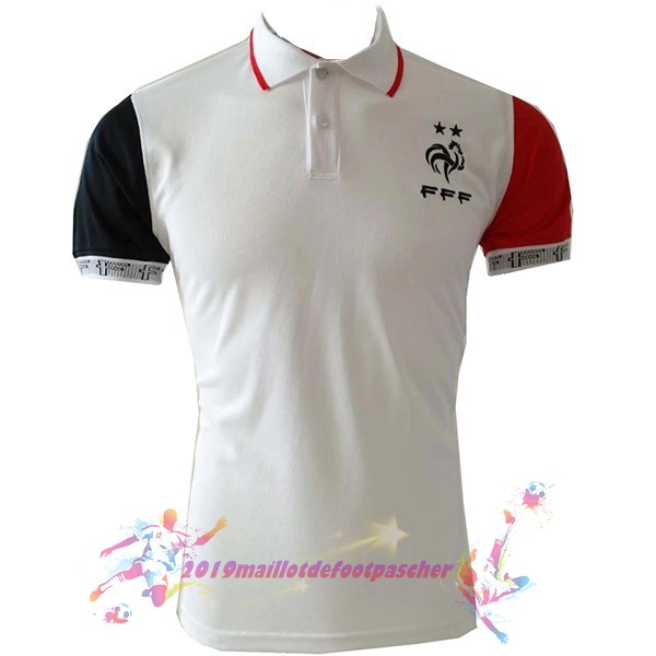 Maillot De Foot Pas Cher Nike Polo France 2019 Blanc Rouge