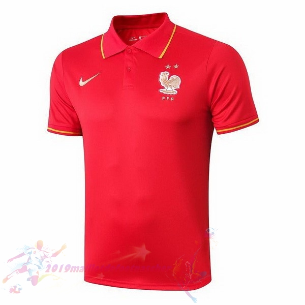 Maillot De Foot Pas Cher Nike Polo France 2019 Rouge