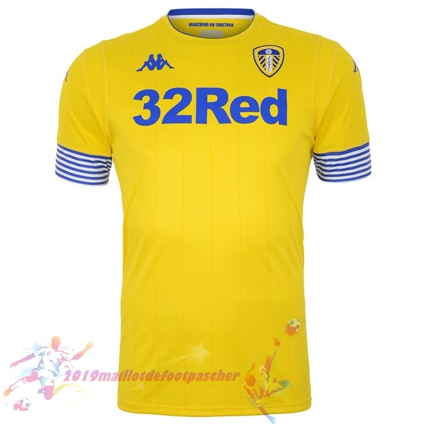 Maillot De Foot Pas Cher Kappa Third Maillots Leeds United 18-19 Jaune
