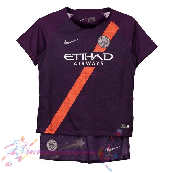 Maillot De Foot Pas Cher Nike Third Ensemble Enfant Manchester City 2018-2019 Purpura