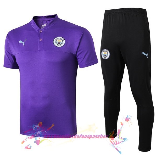 Maillot De Foot Pas Cher PUMA Ensemble Polo Manchester City 2019 2020 Purpura