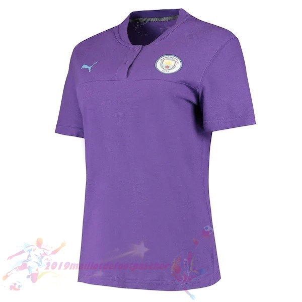 Maillot De Foot Pas Cher Puma Polo Manchester City 2019 2020 Purpura
