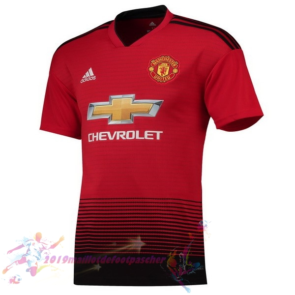 Maillot De Foot Pas Cher adidas Domicile Maillots Manchester United 2018-2019 Rouge