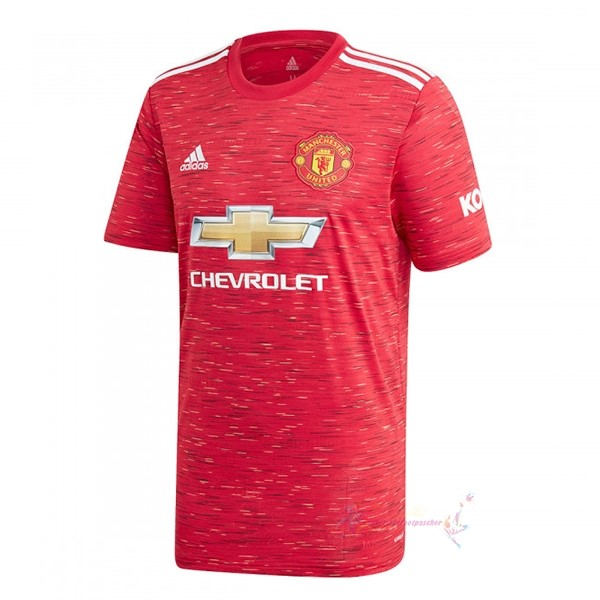 Maillot De Foot Pas Cher adidas Domicile Maillot Manchester United 2020 2021 Rouge