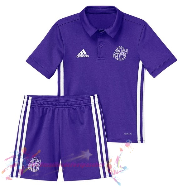 Maillot De Foot Pas Cher adidas Third Ensemble Enfant Marseille 2017 2018 Purpura