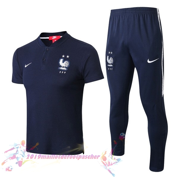 Maillot De Foot Pas Cher Nike Ensemble Polo France 2018 Bleu