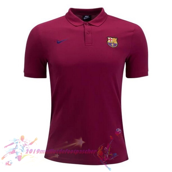 Maillot De Foot Pas Cher Nike Polo Barcelona 2018-2019 Rouge