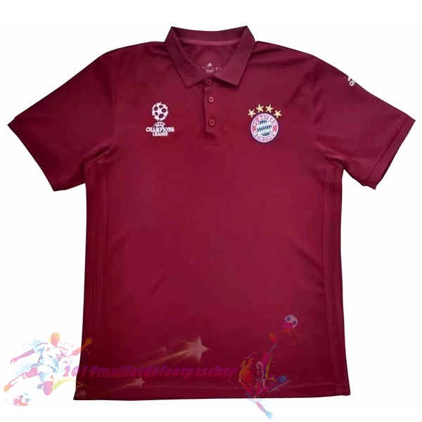 Maillot De Foot Pas Cher adidas Europa Polo Bayern Munich 2017 2018 Rouge