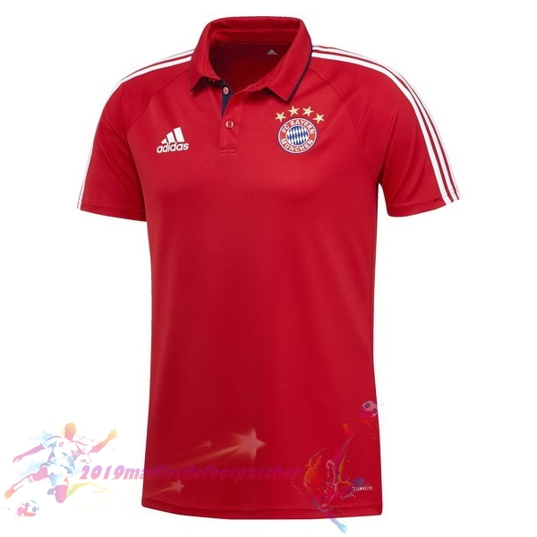 Maillot De Foot Pas Cher adidas Polo Bayern Munich 2017 2018 Rouge