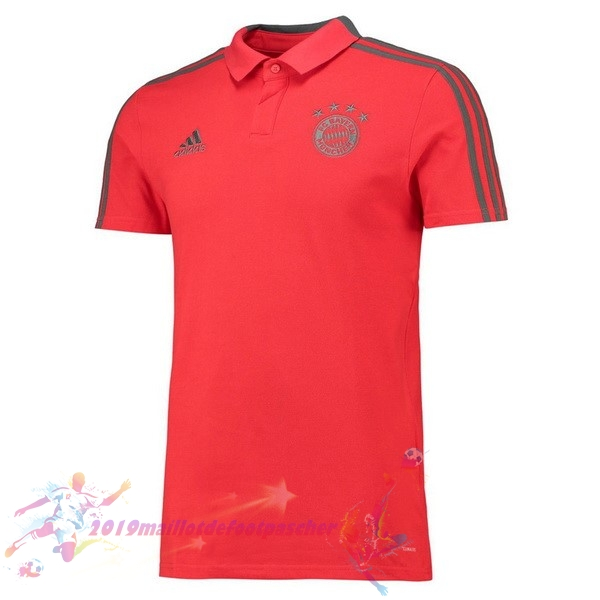 Maillot De Foot Pas Cher adidas Polo Bayern Munich 2018 2019 Rouge
