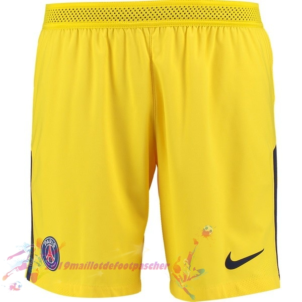 Maillot De Foot Pas Cher Nike Exterieur Shorts Paris Saint Germain 2017 2018 Jaune